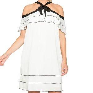 Eloquii Sz 18 Off the Shoulder White Ruffle Dress